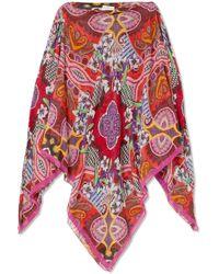 Etro - Cold-shoulder Printed Silk Crepe De Chine Kaftan - Lyst