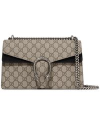 Gucci - Dionysus Small Coated-canvas And Suede Shoulder Bag - Lyst