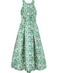 Monique Lhuillier - Floral-print Satin Gown - Lyst