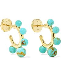 Ippolita - Nova Teeny 18-karat Gold Turquoise Hoop Earrings - Lyst