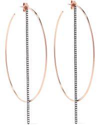 Diane Kordas - 18-karat Rose Gold Diamond Hoop Earrings - Lyst