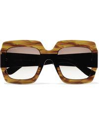 b02b8855707 Gucci - Oversized Square-frame Tortoiseshell Acetate Sunglasses - Lyst