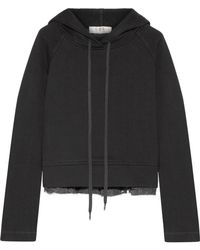 Sea - Cotton-jersey And Fil Coupé Chiffon Hooded Top - Lyst