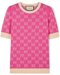 Gucci All Over Knitted Sweater - Pink