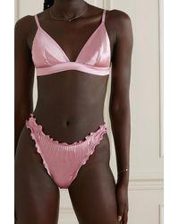 I.D Sarrieri Lombard Street Triangel-bh Aus Satin Aus Einer Seidenmischung - Pink
