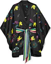 Meng - Exclusive Printed Silk-satin Kimono - Lyst