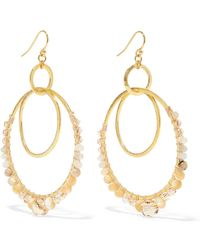 Chan Luu - Gold-plated Agate, Mother-of-pearl And Crystal Earrings - Lyst