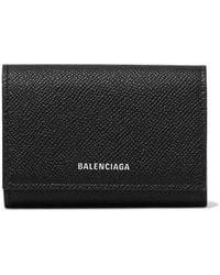 Balenciaga Ville Printed Textured-leather Cardholder - Black