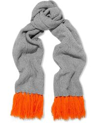 Chinti & Parker - Aran Heart Fringed Cable-knit Merino Wool And Cashmere-blend Scarf - Lyst