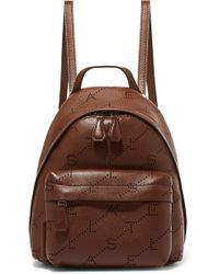 Stella McCartney - Mini Perforated Faux Leather Backpack - Lyst