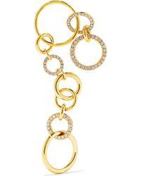 Gaelle Khouri - Nous 18-karat Gold Diamond Earring - Lyst