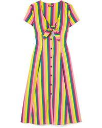 8dd3b57f65 Nanushka Mame Tie-detailed Cotton Maxi Dress in Natural - Lyst