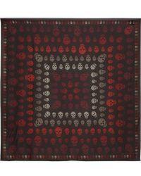 Alexander McQueen Printed Silk-chiffon Scarf - Red