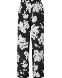 Ganni - Floral High-waist Trousers - Lyst