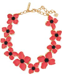 Oscar de la Renta - Gold-tone Beaded Necklace - Lyst