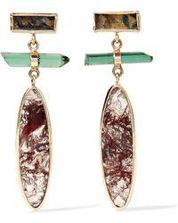 Melissa Joy Manning - 14-karat Gold, Sterling Silver, Agate And Tourmaline Earrings - Lyst
