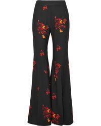 Ellery - Higher And Higher Floral-print Crepe Flared Pants - Lyst