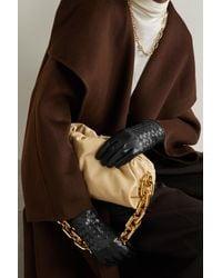 Portolano Woven Leather Gloves - Black