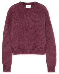 Bassike Mohair And Wool-blend Jumper - Purple