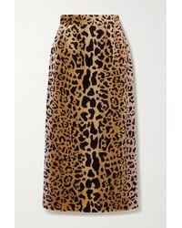 Miu Miu Midirock Aus Samt Mit Leopardenprint - Braun