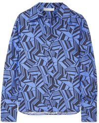 Chloé - Printed Silk Crepe De Chine Shirt - Lyst