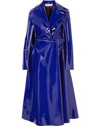 Marni - Faux Patent-leather Coat - Lyst