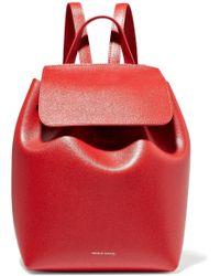 Mansur Gavriel - Mini Textured-leather Backpack - Lyst