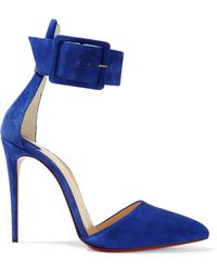 Christian Louboutin - Harler 100 Suede Pumps - Lyst