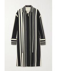 JOSEPH - Robe-chemise Midi En Crêpe De Soie À Rayures Duras - Lyst