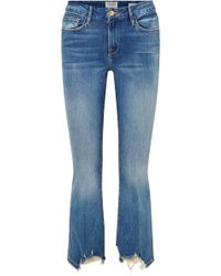 FRAME - Le Crop Mini Boot Hoch Sitzende Jeans In Distressed-optik - Lyst