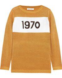 Bella Freud - Sparkle 1970 Metallic Knitted Sweater - Lyst