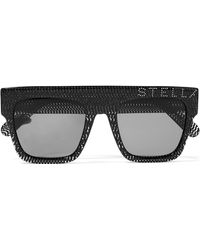 Stella McCartney - Crystal-embellished D-frame Glittered Acetate Sunglasses - Lyst