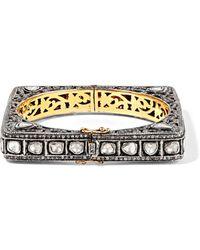 Amrapali - 18-karat Gold And Sterling Silver Diamond Bracelet - Lyst