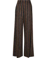 Golden Goose Deluxe Brand - Berta Striped Alpaca-blend Jacquard Wide-leg Pants - Lyst
