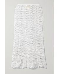 Nili Lotan Zuria Crocheted Cotton Skirt - White