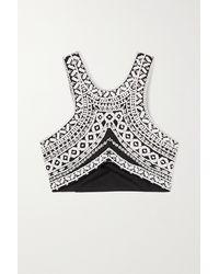 Dries Van Noten - Embroidered Cotton-poplin Bralette - Lyst
