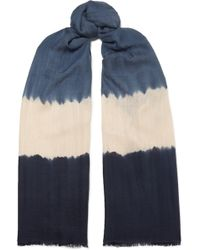 Melt - Tara Tie-dyed Cashmere And Silk-blend Scarf - Lyst