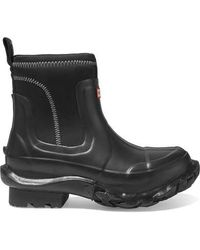 Stella McCartney + Hunter Rubber And Yulex Ankle Boots - Black