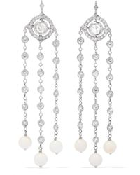 Loree Rodkin - Christina 18-karat White Gold, Diamond And Coral Earrings - Lyst