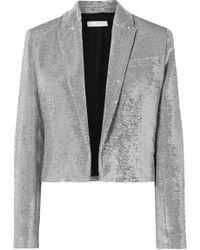 IRO | Napli Cropped Sequined Cotton Tuxedo Jacket | Lyst
