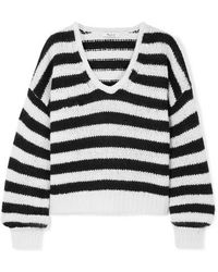 Madewell - Striped Knitted Jumper - Lyst