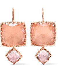Larkspur & Hawk - Sadie Rose Gold-dipped Quartz Earrings - Lyst
