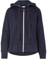 Moncler - Cotton-jersey And Shell Hoodie - Lyst