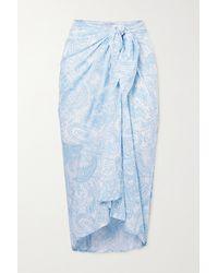 Faithfull The Brand + Net Sustain Faye Pareo Aus Voile Mit Paisley-print - Blau