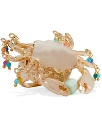 Rosantica - Chela Beaded Gold-tone Ring - Lyst