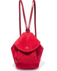MANU Atelier - Fernweh Mini Suede Backpack - Lyst