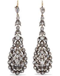 Fred Leighton - 1830s Gold Diamond Earrings - Lyst