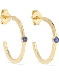 Jennifer Meyer - 18-karat Gold Sapphire Hoop Earrings - Lyst