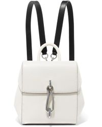 Alexander Wang - Hook Mini Smooth And Textured-leather Backpack - Lyst
