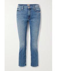 Mother The Dazzler Hoch Sitzende Jeans Mit Geradem Bein - Blau